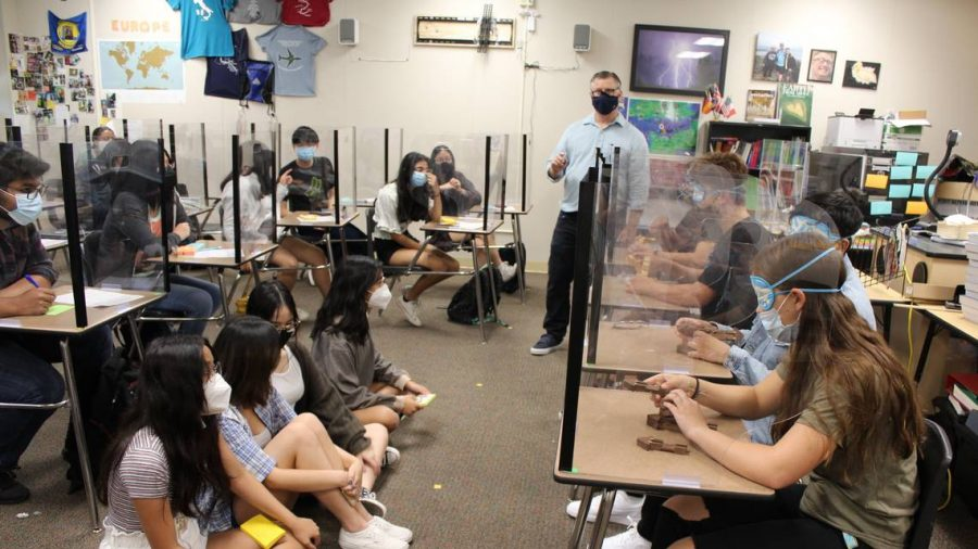 Students at Enochs attend a history course this summer.
